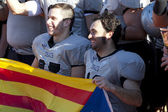 Football Rookies vs between Badalona Dracs Barbera — Stock Photo
