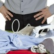 Ironing clothes — Stock Photo