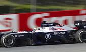 Formel eins-teams-testtage am circuit de catalunya — Stockfoto