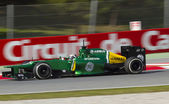 Formula One Teams Test Days at Catalunya circuit — Stockfoto