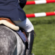 Rider on a high jump competition - Foto de Stock