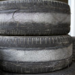 Worn tires for competition — 图库照片