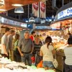 Boqueria market in Barcelona — Stock Photo #30388373
