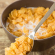 Coffee with cereal — Stock Photo