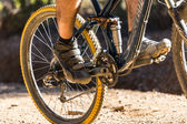 Mountain biking — Stockfoto