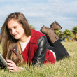 Stock Photo: Young Girl with tablet