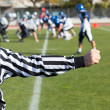 Football referee — Stock Photo
