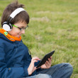 Boy with laptop — Stockfoto #36530791