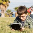 Boy with laptop — Stok Fotoğraf #36530853