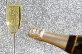 Bottle of champagne — Stock Photo