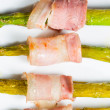 Stock Photo: Asparagus with bacon