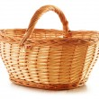 Empty wicker basket isolated on white — Stock Photo #12887173