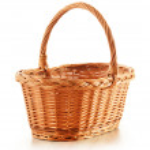 Empty wicker basket isolated on white — Stock Photo #12887217