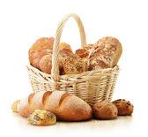 作文与面包和卷 — 图库照片