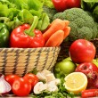 Composition with variety of raw vegetables — Stock Photo #19668111