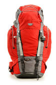 Large red touristic backpack isolated on white — Stock Photo