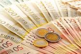 Euro banknot ile kompozisyon — Stok fotoğraf