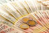 Composition with Euro banknotes — Stock Photo