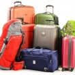 Luggage consisting of large suitcases rucksacks and travel bag — Stock Photo #21118229