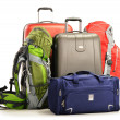 Luggage consisting of large suitcases rucksacks and travel bag — Stock Photo #21118331