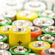 Composition with alkaline batteries. Chemical waste — Stock Photo #21249051