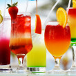 Composition with five glasses of drinks — Stock Photo #21931585