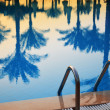 Swimming pool in touristic resort during summer time — Stock Photo #22028809