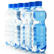 Composition with empty polycarbonate plastic bottles of mineral — Stock Photo #23960791