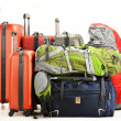 Luggage consisting of large suitcases rucksacks and travel bag — Stock Photo #24404853