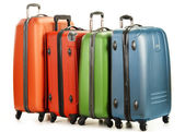 Luggage consisting of large suitcases isolated on white — Foto de Stock