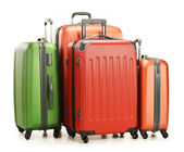 Luggage consisting of large suitcases isolated on white — Stock Photo