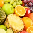 Stock Photo: Composition with variety of fruits