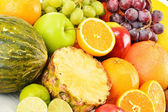 Composition with variety of fruits — Stock Photo