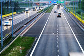 Controlled-access highway in Poznan, Poland — Stock Photo