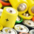 Composition with alkaline batteries. Chemical waste — Stock Photo #27843115