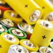 Composition with alkaline batteries. Chemical waste — Stock Photo #27843923