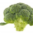 Fresh organic broccoli isolated on white — Stock Photo