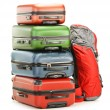 Luggage consisting of large suitcases and rucksack — Stock Photo