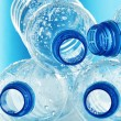 Composition with empty polycarbonate plastic bottles of mineral — Stock Photo