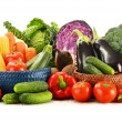 Composition with variety of fresh raw organic vegetables — Foto de Stock