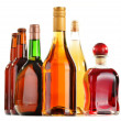 Stock Photo: Assorted alcoholic beverages isolated on white
