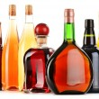 Assorted alcoholic beverages isolated on white — Stock Photo #31588283