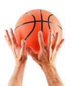 Basketball isolated on white background — Stock Photo