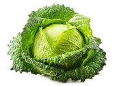 Fresh raw cabbage isolated on white background — Stock Photo