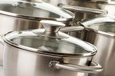 ステンレス鍋と組成 — ストック写真