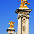 Bridge of Alexandre III, over Seine River in Paris, France — Stock Photo