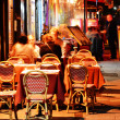 Latin Quarter of Paris by night — Foto de Stock