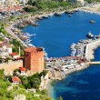 View of Alanyharbor form Alanypeninsula. Turkish Riviera — Stock Photo #34809441