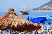 Mediterranean beach during hot summer day — Stock Photo