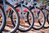 Public bicycle transportation system — Stock Photo